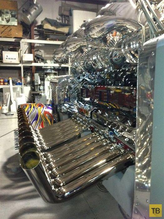 Супермотор V24, собранный своими руками (10 фото)