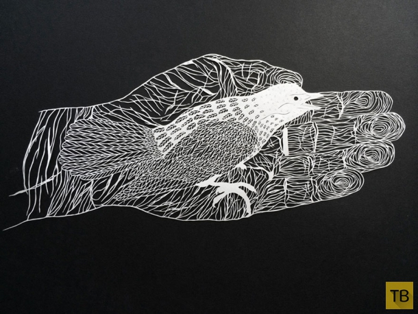 Необычные резные бумажные фигуры от Мод Уайт (11 фото)