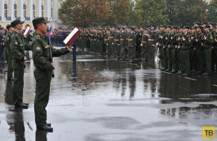 Присяга девушек в Военно-космической академии имени Можайского (11 фото)