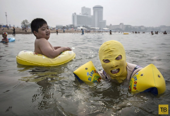 Китайская пляжная мода (13 фото)
