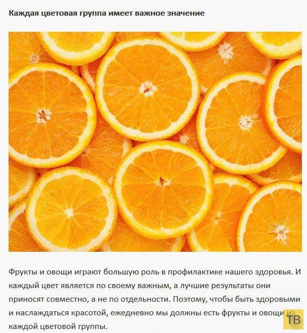 По цвету фруктов и овощей можно определить их полезные свойства (7 фото)