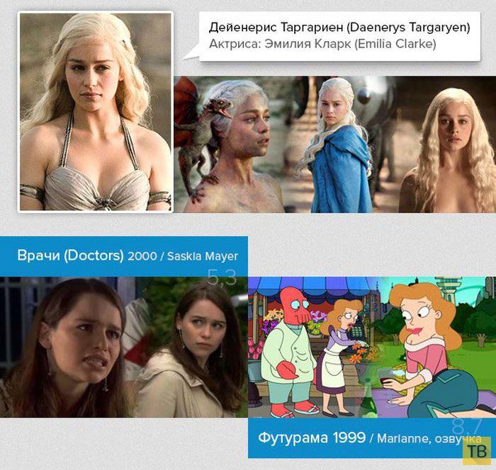 """Другие роли актеров из сериала """"Игра престолов"""" (30 фото)"""
