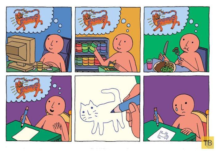 Веселые комиксы и карикатуры, часть 185 (18 фото)