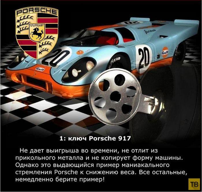 Топ 10: Самые необычные ключи от крутых автомобилей по версии 'Top Gear' (11 фото)