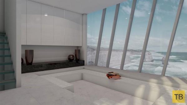 Дом над пропастью (4 фото)