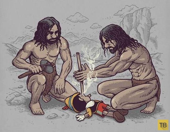 Веселые комиксы и карикатуры, часть 186 (19 фото)