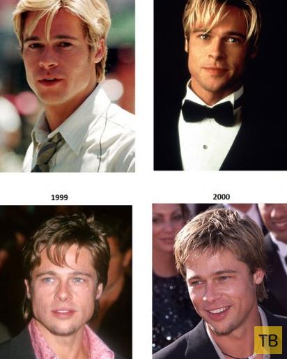 Брэд Питт - тогда и сейчас (4 фото)