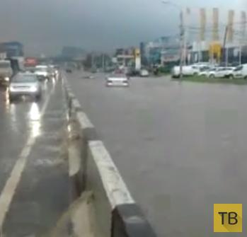 Наводнение после дождя в Ростове-на-Дону...