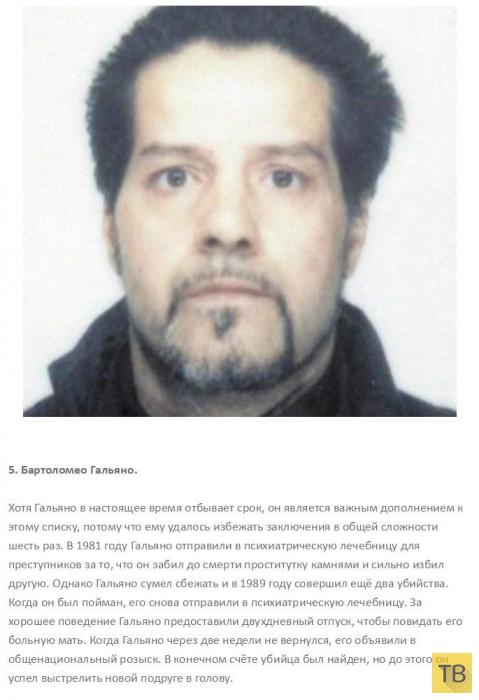 Топ 10: Самые жестокие серийные убийцы, которых выпустили на свободу (11 фото)