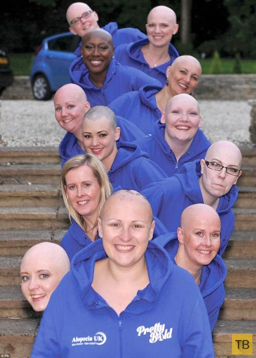 Календарь с голыми лысыми женщинами (5 фото)