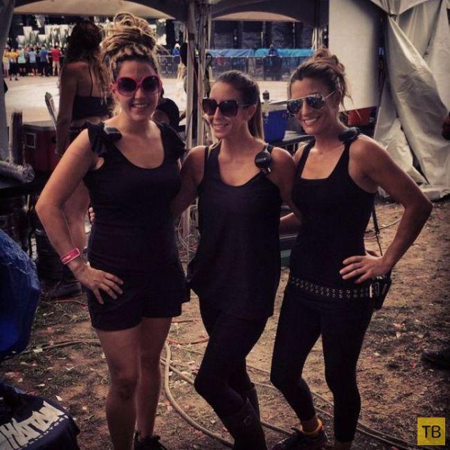 "Девушки с музыкального фестиваля ""Electric Zoo Weekend 2014"" (35 фото)"