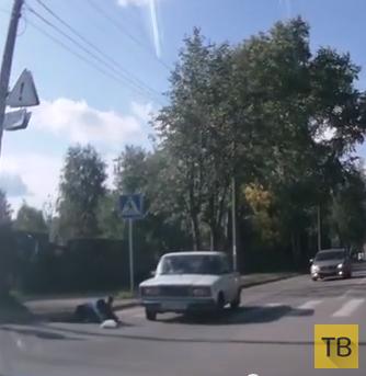 На дорогу никто не смотрит: ни пешеход, ни водитель... Наезд на пешехода в г. Сыктывкар
