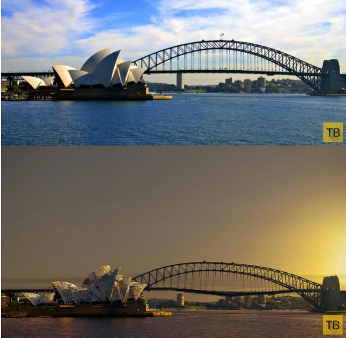 Мировые достопримечательности до и после апокалипсиса (56 фото)