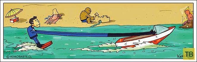 Веселые комиксы и карикатуры, часть 189 (17 фото)