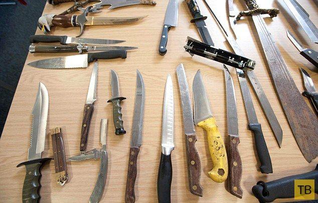 Результат сентябрьской добровольной сдачи холодного оружия (5 фото)