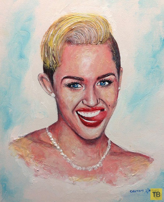 Портреты звезд, написанные зубной пастой (12 фото)