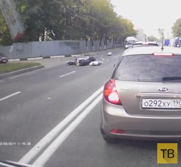 Мотоциклист сбил пешехода... ДТП в г. Королев
