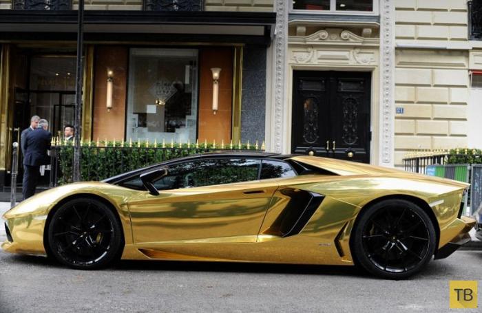 Позолоченный Lamborghini Aventador - предел роскоши (5 фото)