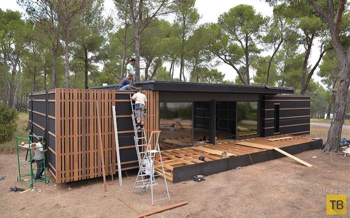 Инновационный дом Pop-Up House который собирается за 4 дня и почти не требует отопления (7 фото)