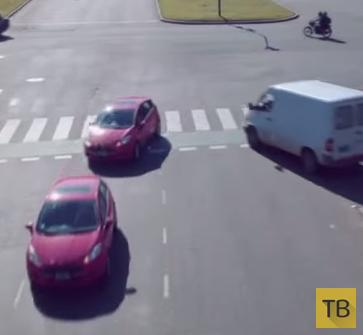 Головокружительный танец автомобилей и велосипедов