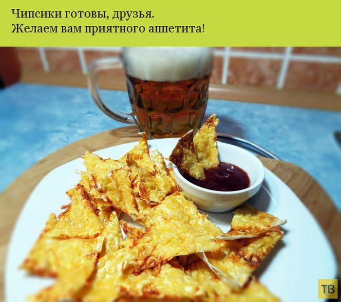 Отличный рецепт чипсов из лаваша к пиву (9 фото)