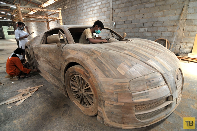 Bugatti Veyron Super Sport из дерева (6 фото)