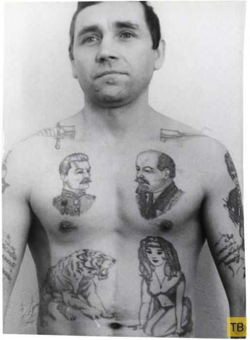 Тюремные татуировки времен СССР и их описание (18 фото)