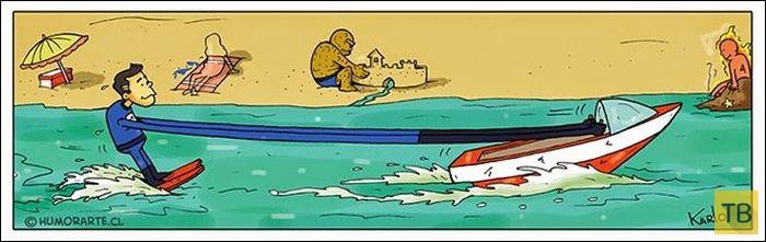 Веселые комиксы и карикатуры, часть 201 (17 фото)