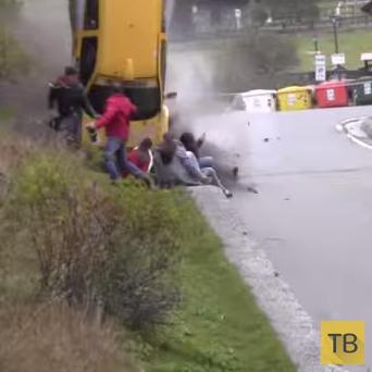 Большая авария на  Ралли Валле д'Аоста ...