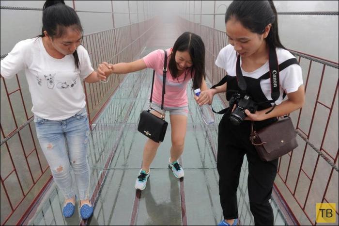 Мост для любителей острых ощущений (7 фото)