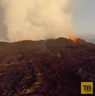 Беспилотник заснял извержение вулкана Бардарбунга