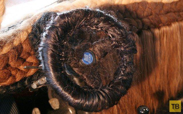 Самая волосатая машина с человеческими косами (5 фото)