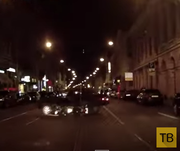 Повернул, не глядя и сбил мотоциклиста... ДТП на ул. Садовая, г. Санкт-Петербург