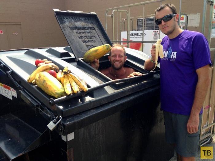 Еда из мусорных контейнеров (19 фото)