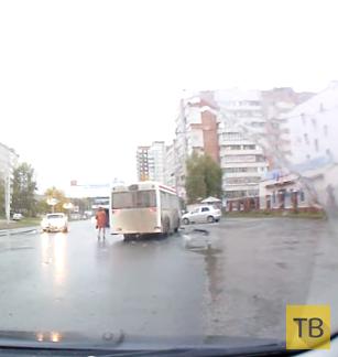 Водитель автобуса сбил женщину, нахамил и уехал... ДТП в г. Пермь