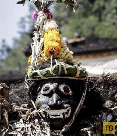 Бали: Одетые в банановые костюмы молодчики повышают рождаемость (9 фото)