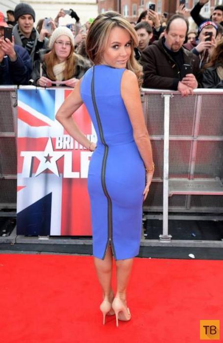 43-летняя британская телеведущая репетирует с голым задом (17 фото)