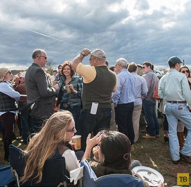 Традиционная массовая попойка на скачках Far Hills Race (20 фото)