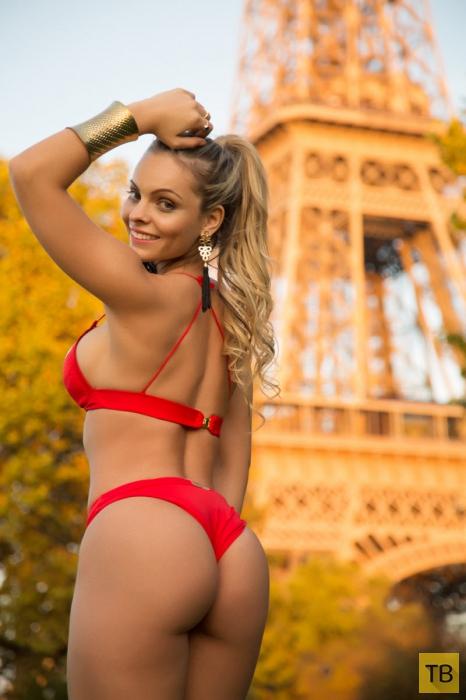 «Мисс бразильская попка» разделась у Эйфелевой башни (13 фото)