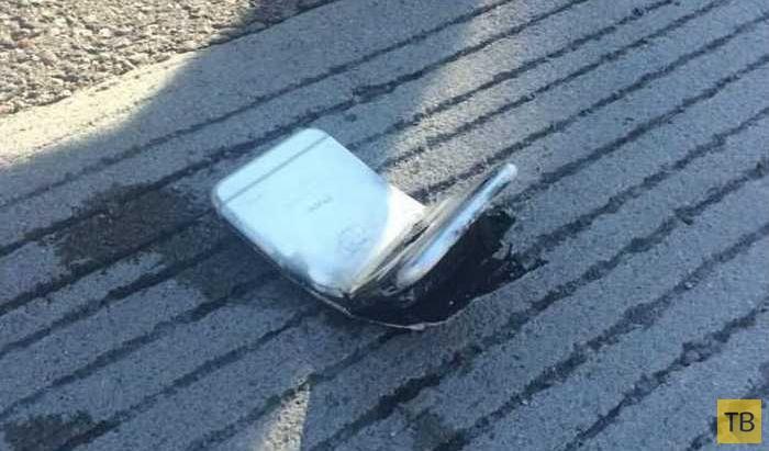 iPhone 6 оставил сильный ожег на ноге своего владельца (4 фото)