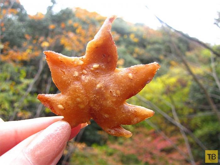 Японское лакомство из листьев клёна (8 фото)