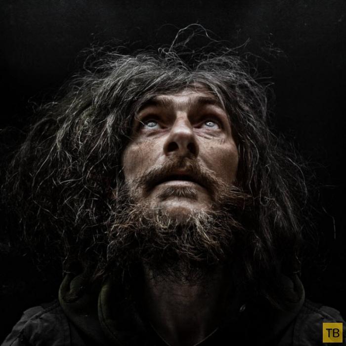 Портреты Ли Джеффриса: «Бездомные» (25 фото)