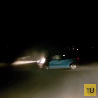 Пьяная водительница выехала на встречку и совершила лобовое столкновение