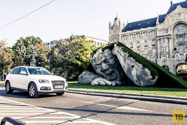 Ужас на одной из улиц Будапешта (6 фото)