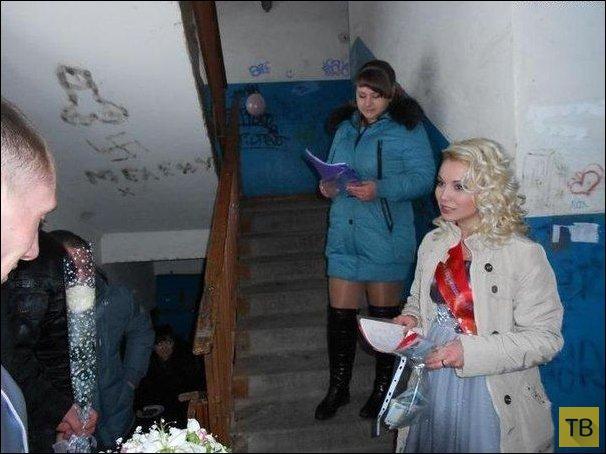 Прикольные свадебные фотографии, часть 2 (20 фото)