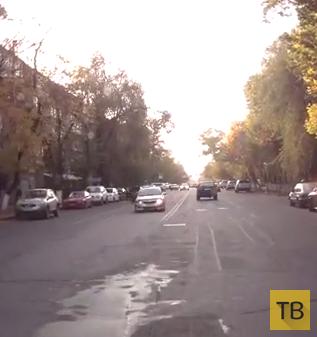 Пешеход бросился под машину... ДТП на пересечении улиц Богенбай Батыра-Пушкина, г. Алматы