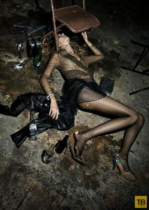 Фотосессия гламурных алкоголичек (11 фото)