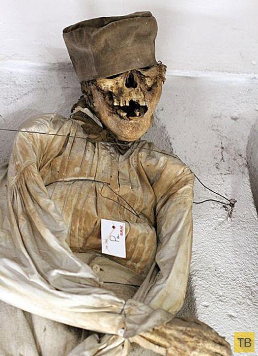 Одно из самых жутких мест на планете - необычное кладбище в Палермо (41 фото)