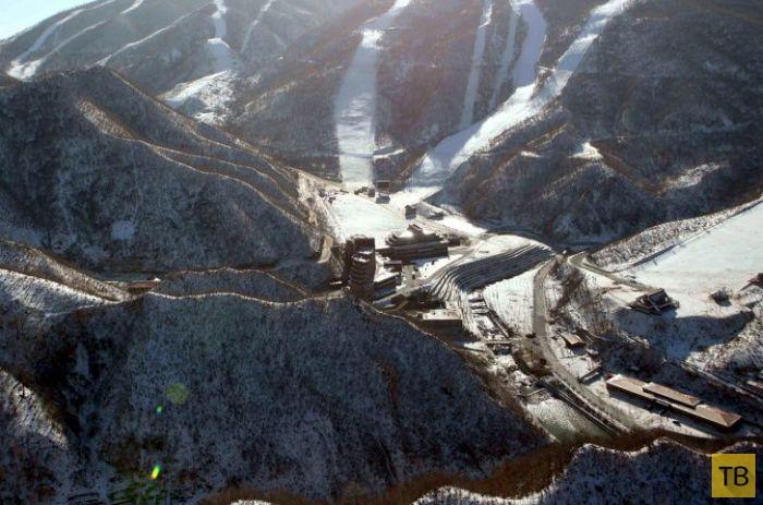 Первый горнолыжный курорт КНДР (26 фото)