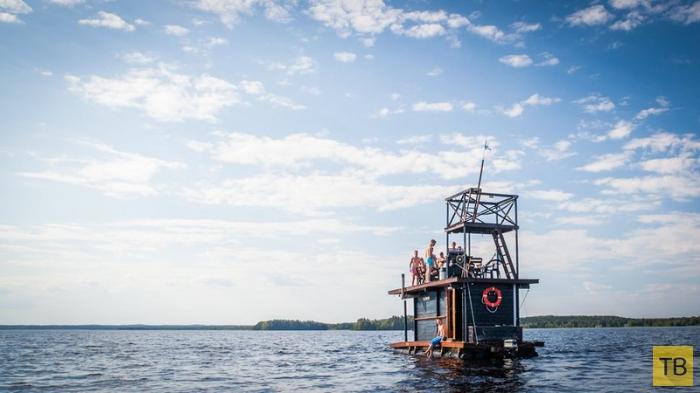Плавающая сауна в Финляндии (10 фото)